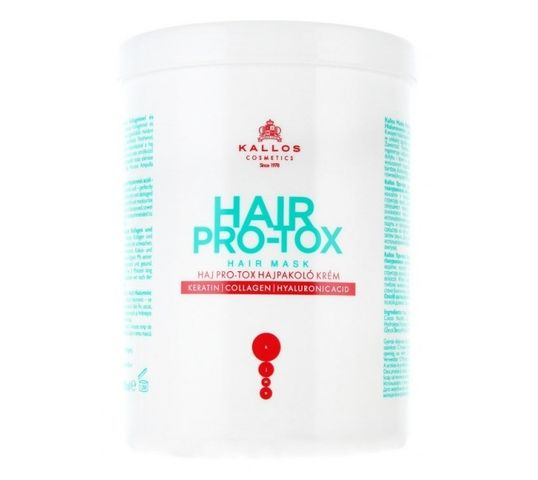 Kallos Hair Pro-Tox Hair Mask maska do włosów z keratyną kolagenem i kwasem hialuronowym 500ml