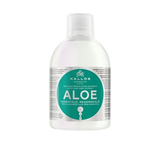Kallos KJMN Aloe Vera Moisture Repair Shine Shampoo regenerująco - nawilżający szampon do włosów 1000ml