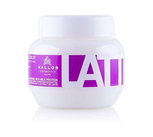 Kallos Latte Hair Mask With Milk Protein maska do włosów zniszczonych zabiegami chemicznymi 275ml