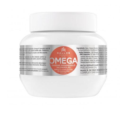 Kallos Omega Rich Repair Hair Mask With Omega-6 Complex And Macadamia Oil regenerująca maska z kompleksem omega-6 i olejem makadamii 275ml