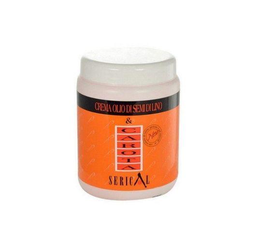 Kallos Serical Crema Olio Di Semi Di Lino Carota maska do włosów z wyciągiem z marchwi 1000ml