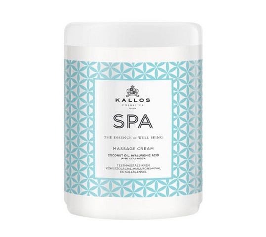 Kallos Spa Massage Cream krem do masażu ciała Coconut Oil Hyaluronic Acid & Collagen 1000ml