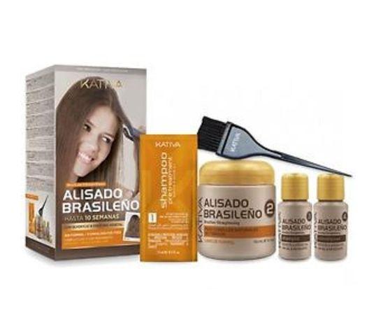Kativa Brazilian Straightening zestaw keratynowy z arganem do wygładzania i prostowania włosów 145ml