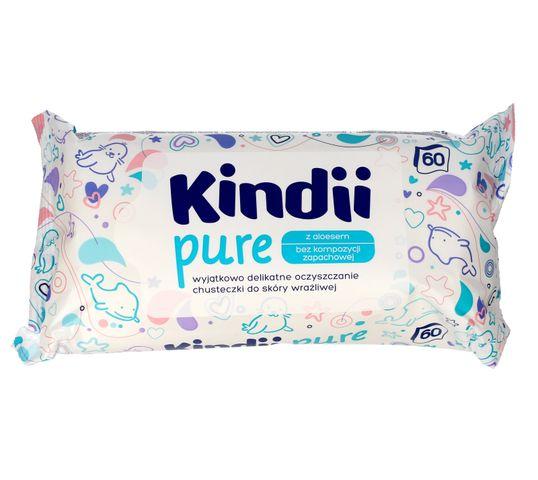 Kindii Pure chusteczki oczyszczające dla niemowląt z aloesem 1 op. - 60 szt.