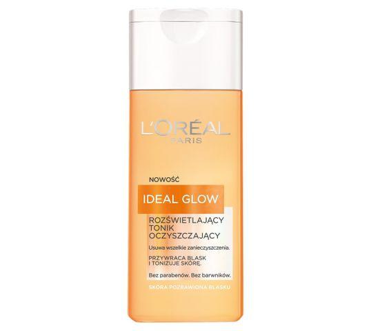 L'Oreal Ideal Glow Rozświetlający Tonik oczyszczający dla skóry pozbawionej blasku 200 ml