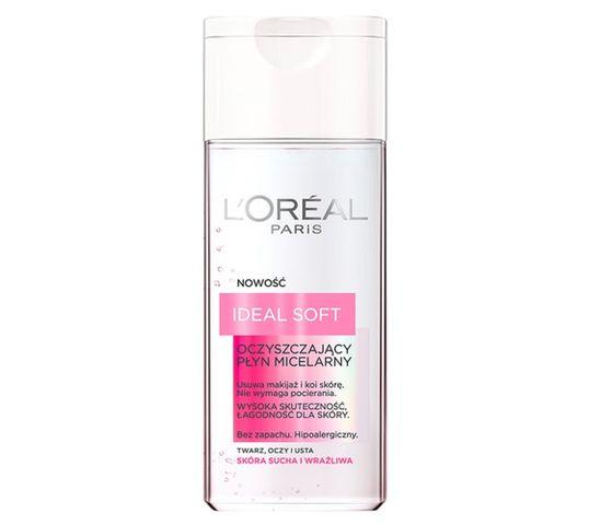 L'Oreal Ideal Soft płyn micelarny do twarzy oczu i ust do skóry suchej i wrażliwej 200 ml