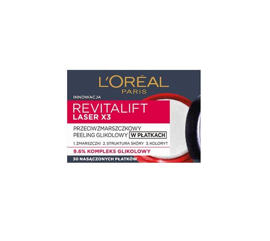 L'Oreal Paris Revitalift Laser X3 peeling przeciwzmarszczkowy glikolowy w płatkach 30szt.