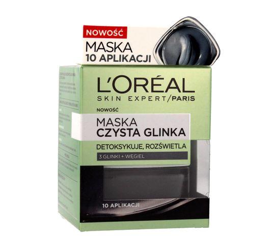 L'Oreal Skin Expert maska do każdego typu cery czysta glinka detoksykująco-rozświetlająca 50 ml