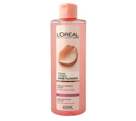 L'Oreal Skin Expert Tonik do twarzy łagodzący Rare Flowers dla skóry suchej i wrażliwej 400 ml