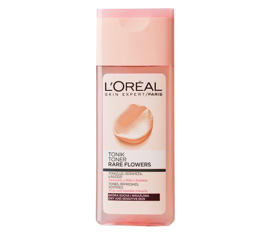 L'Oreal Skin Expert tonik do twarzy oczyszczający Rare Flowers do skóry suchej i wrażliwej 200 ml
