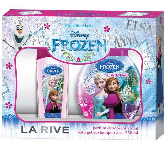 La Rive Disney Frozen Zestaw prezentowy dezodorant perfumowany 75 ml + żel do kąpieli 2w1 250 ml