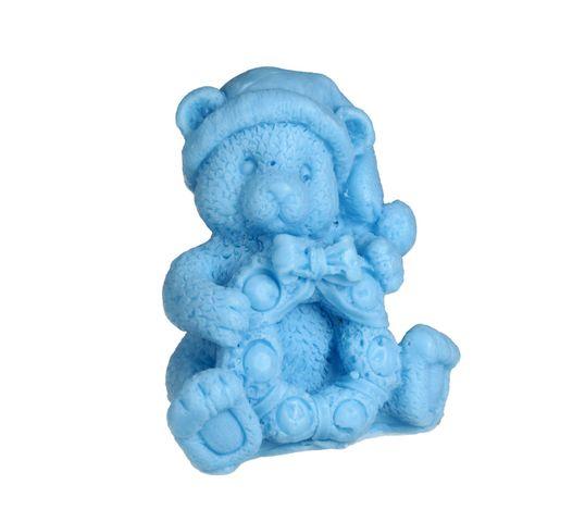 LaQ Happy Soaps – mydełko glicerynowe Miś z Wiankiem – niebieski (90 g)