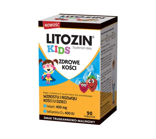 Litozin Kids zdrowe kości suplement diety (90 tabletek)