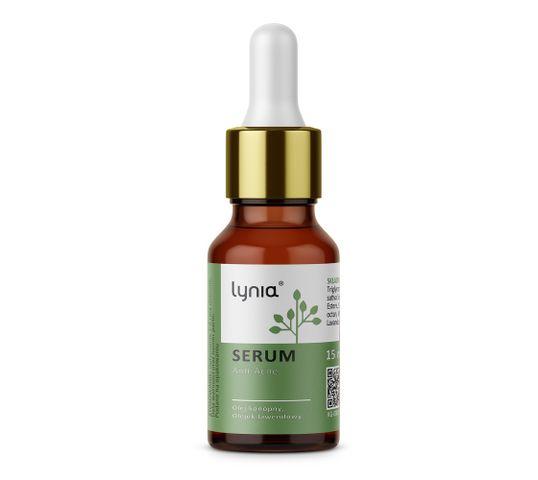 Lynia serum anti-acne z olejem konopnym i olejkiem lawendowym (15 ml)