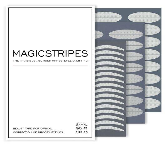 Magicstripes Niewidoczne paski liftingujące powieki zestaw S M L 96 pasków