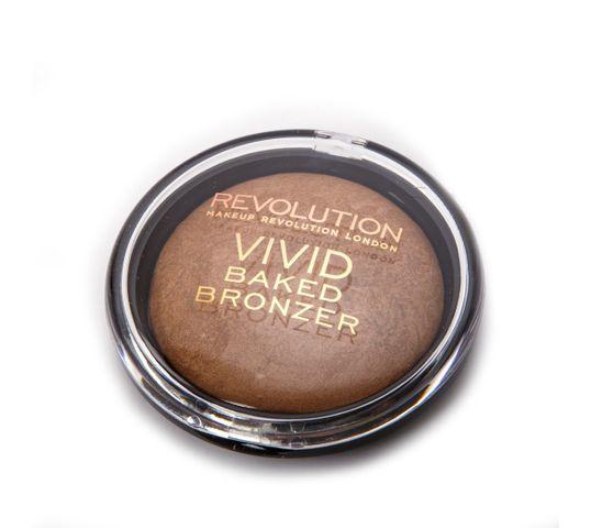 Makeup Revolution Baked Bronze Golden Days – puder brązujący do twarzy wypiekany (10 g)