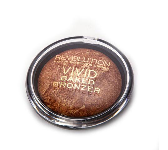 Makeup Revolution Baked Bronze Rock Bronzer – puder brązujący do twarzy wypiekany (10 g)