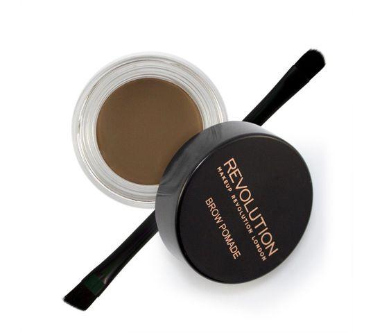Makeup Revolution Brow Pomade pomada do brwi Medium Brown (2.5 g)