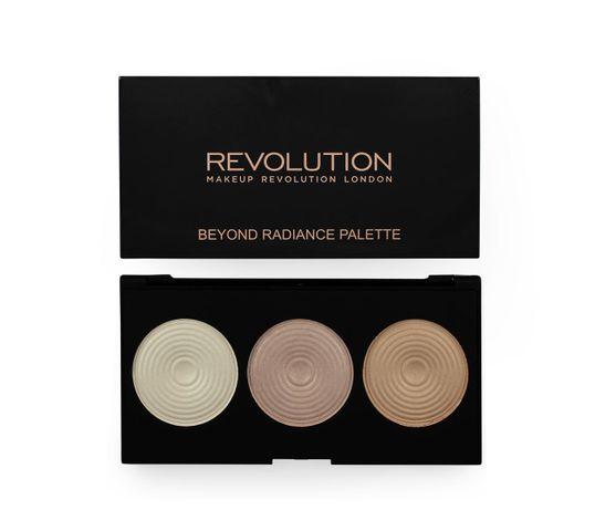 Makeup Revolution Highlighter Palette Radiance – rozświetlacze do twarzy (15 g)