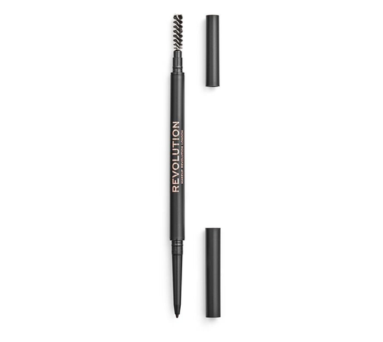 Makeup Revolution Precise Brow Pencil – dwustronna kredka do brwi Dark Brown (1szt)