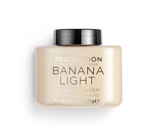 Makeup Revolution Loose Baking Powder – puder sypki Banana Light (32 g)