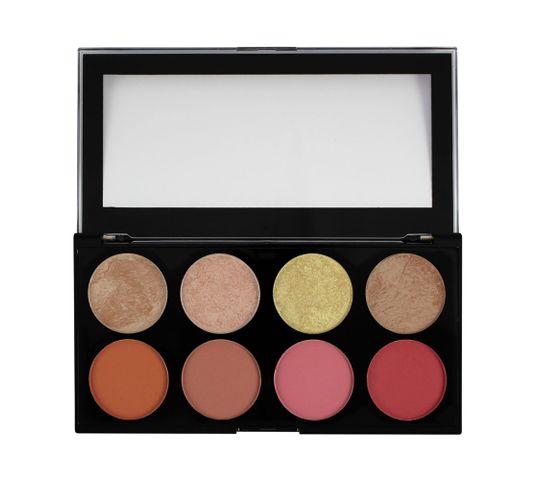 Makeup Revolution Ultra Blush Palette 8 - zestaw róży do policzków Blush Goddess (13 g)