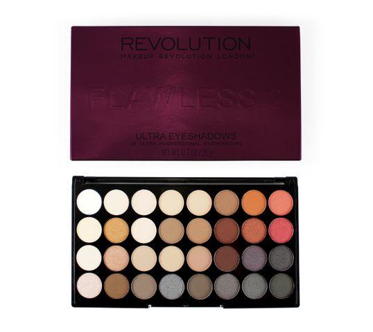 Makeup Revolution Ultra Palette 32 - zestaw cieni do powiek Flawless 2 (16 g)