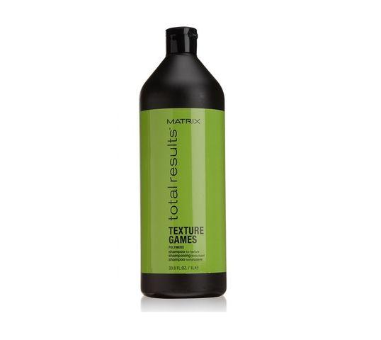 Matrix Total Results Texture Games Shampoo szampon do włosów z polimerami 1000ml