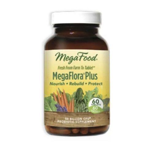 Mega Food MegaFlora Plus 14 szczepów probiotycznych suplement diety 60 tabletek