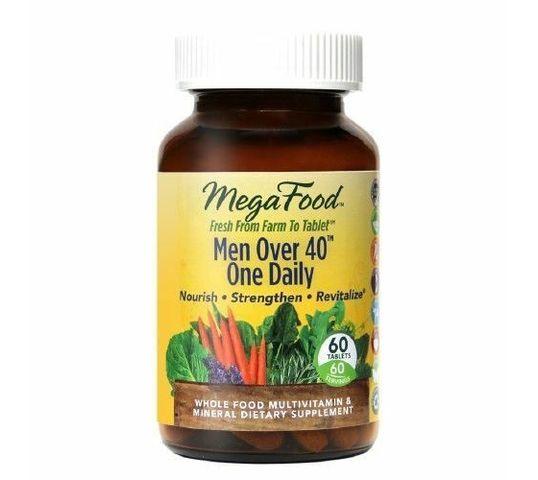 Mega Food Men Over 40 One Daily multiwitaminowy i mineralny codzienny suplement diety dla mężczyzn powyżej 40 roku życia 60 tabletek