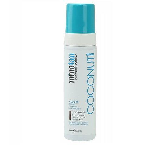 MineTan Coconut Water Self Tan Foam nawilżająca pianka samoopalająca Super Dark 200ml