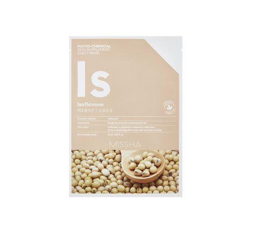 Missha Phyto - Chemical Skin Supplement Sheet Mask nawilżająca maska w płachcie na twarz Isoflavone 25ml
