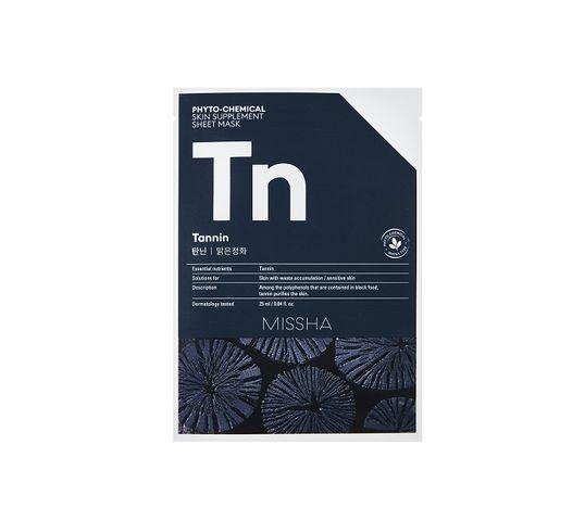 Missha Phyto - Chemical Skin Supplement Sheet Mask oczyszczająca maska w płachcie na twarz Tannin 25ml