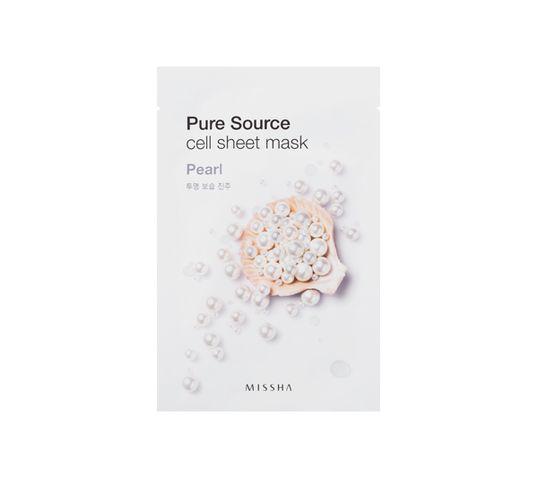 Missha Pure Source Cell Sheet Mask bawełniana maska na twarz Pearl 21g