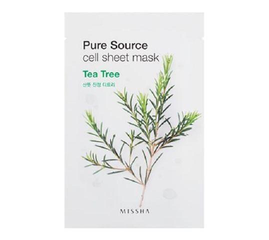 Missha Pure Source Cell Sheet Mask bawełniana maska na twarz Tea Tree 21g