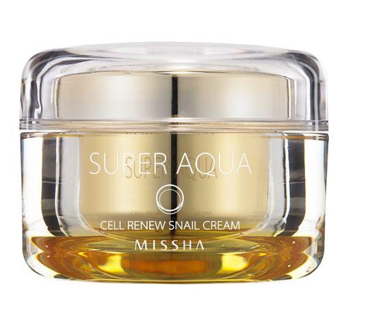 Missha Super Aqua Cell Renew Snail Cream krem z wyciągiem ze śluzu ślimaka odbudowujący komórki 47ml