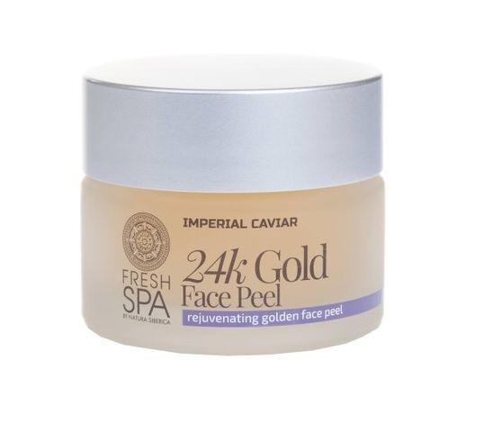 Natura Siberica Fresh Spa Imperial Caviar 24k Gold Face Peel peeling odmładzający do twarzy 24 karatowe złoto 50ml