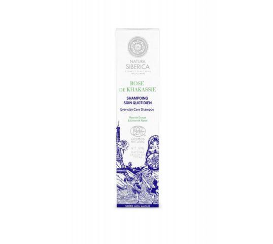 Natura Siberica Khakassia Rose szampon do codziennej pielęgnacji Rose de Grasse & Limonik  Nanaï 250 ml