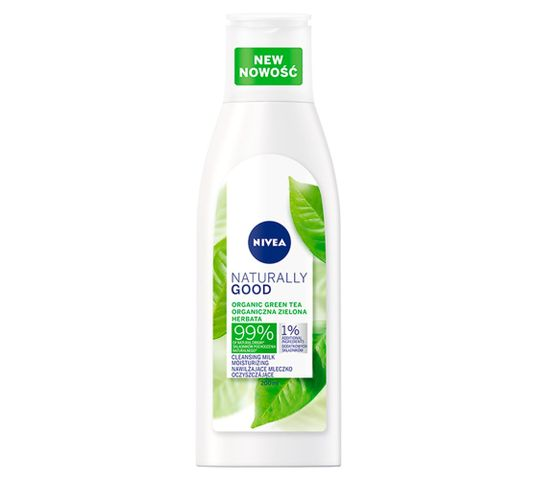 Nivea Naturally Good Cleansing Milk mleczko oczyszczające do twarzy nawilżające (200 ml)