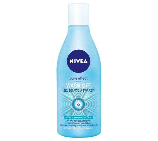 Nivea Pure Effect Żel do mycia twarzy Wash Off 150 ml