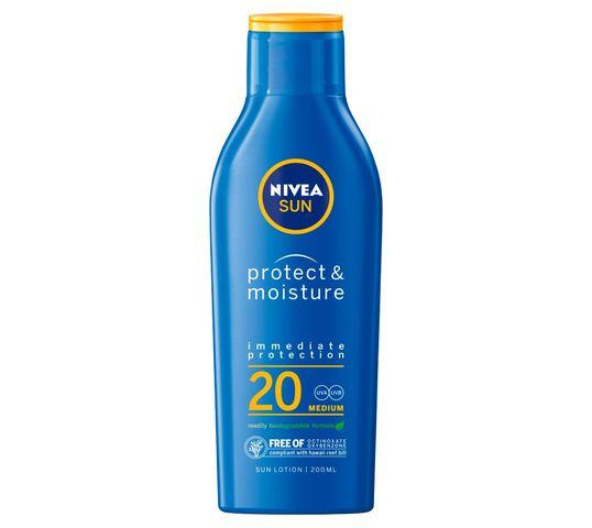 Nivea Sun Protect & Moisture nawilżający balsam do opalania SPF20 (200 ml)