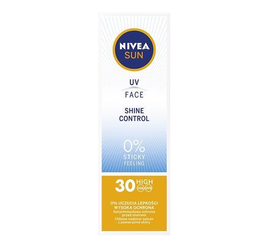 Nivea Sun UV Face Shine Control matujący krem do twarzy z wysoką ochroną SPF30 (50 ml)