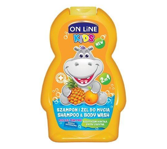 On Line Kids Szampon 2w1 Egzotyczny Koktajl 250 ml