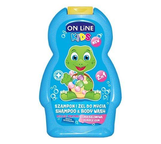 On Line Kids Szampon 2w1 Guma Balonowa 250 ml