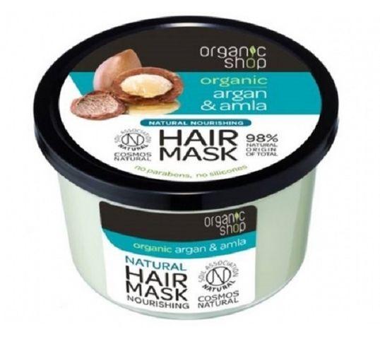 Organic Shop Hair Mask maska odbudowująca do włosów Argan & Amla 250ml