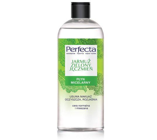 Perfecta Oczyszczanie Płyn micelarny Jarmuż i Zielony Jęczmień 400 ml