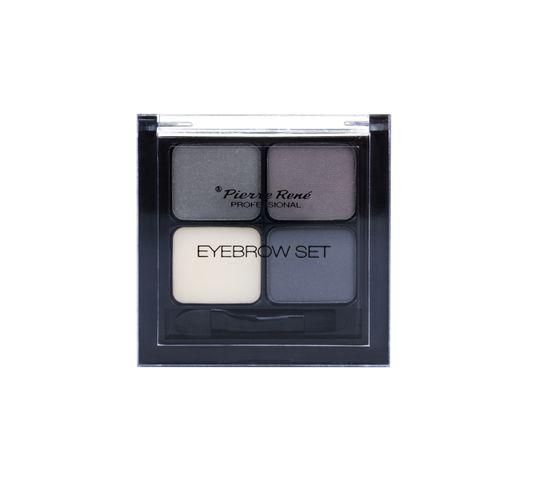 Pierre Rene Professional Eyebrow paletka cieni do modelowania brwi No 02 Black 4,5g