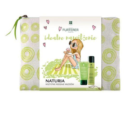 Rene Furterer Naturia zestaw Szampon ułatwiający rozczesywanie 50ml + suchy szampon 75ml + kosmetyczka