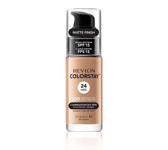Revlon Colorstay 330 cera mieszana i tłusta Natural Tan (podkład 30 ml)