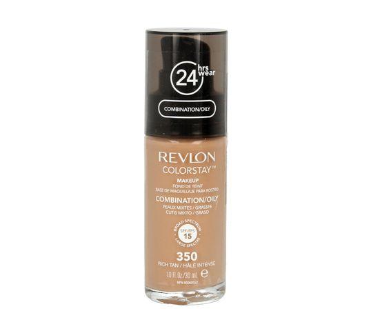 Revlon Colorstay 350 cera mieszana i tłusta Rich Tan (podkład 30 ml)